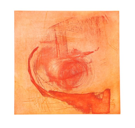 """Heike Roesel """"Spin 1"""" fine art etching, edition of 8 in variation"""