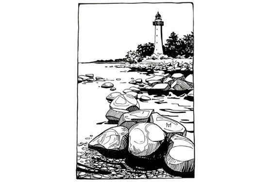 Lighthouse in Vormsi, Estonia.