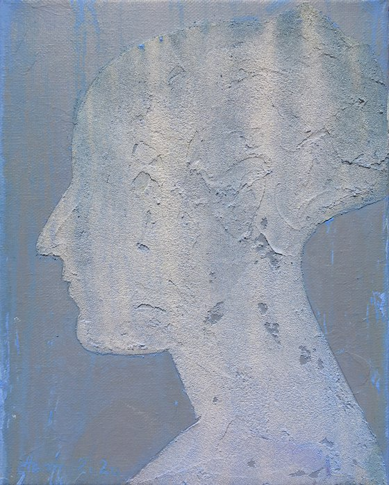 The beauty - 1 30x24, oil on canvas on paste,