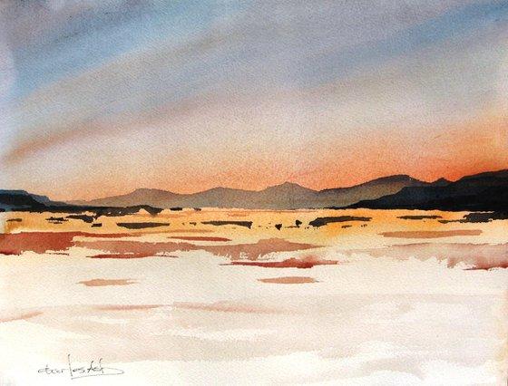 Colores Llano 4 - Original Watercolor Painting