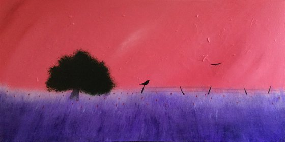 """""""The Wait Is Over"""" 100x50x2 cm"""