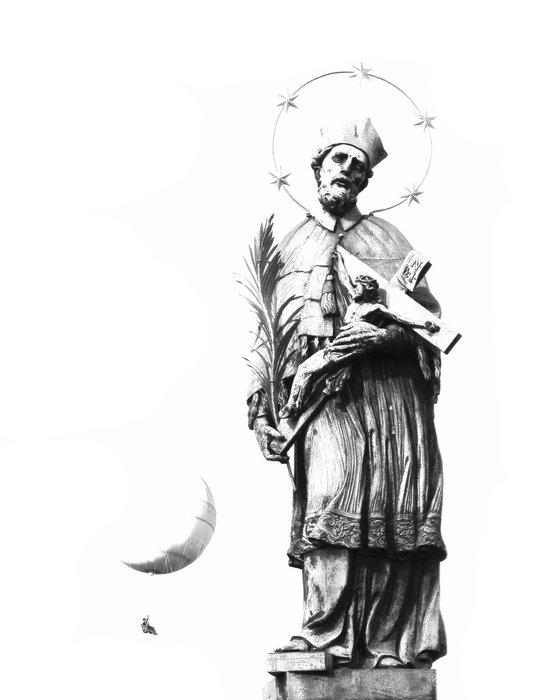 The Pilgrims, religious saints statue