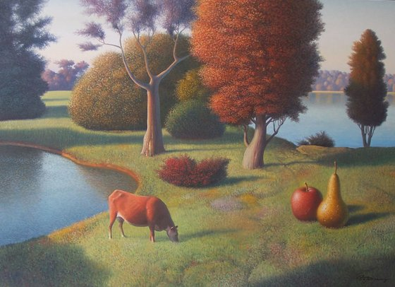 Early Fall Evening, 32x44