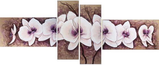 Orchids (30x60 20x60 20x60 30x60 size,  Modern art )