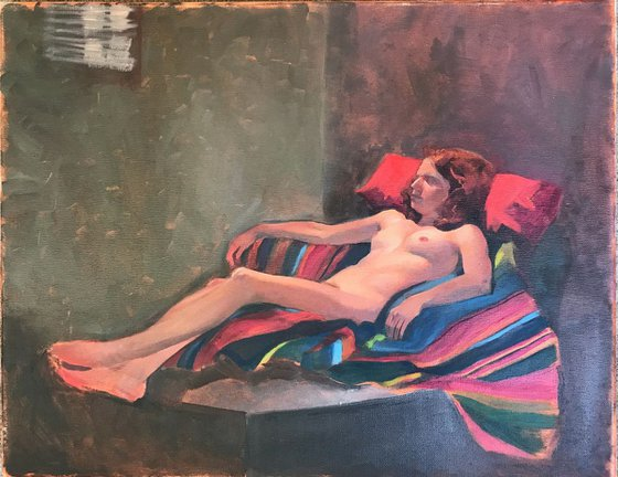 Young nude resting