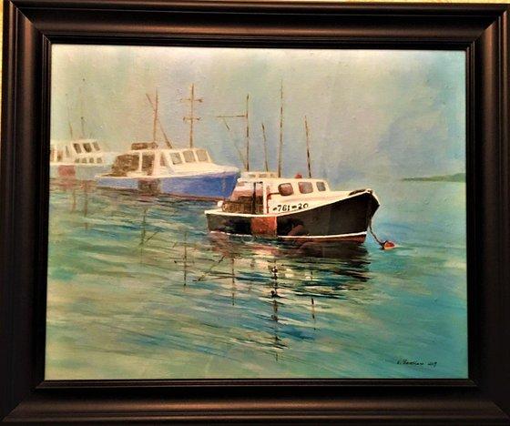 Lobster Boats in Fog