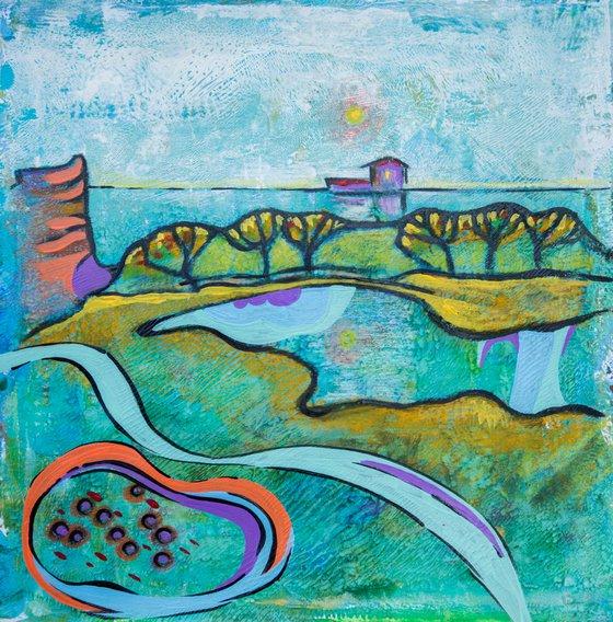 Seasonal Landscape on paper 5