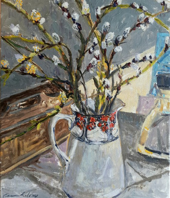 Pussy Willow in the Crown Ducal Jug