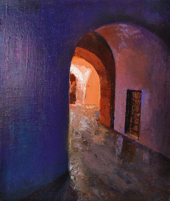 Entrance(39x46cm, oil painting, impressionistic)