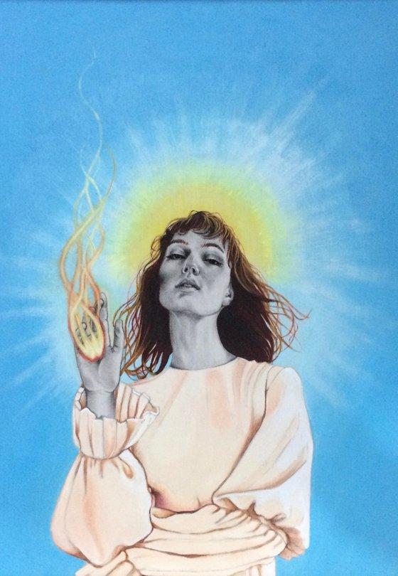 Illuminated girl