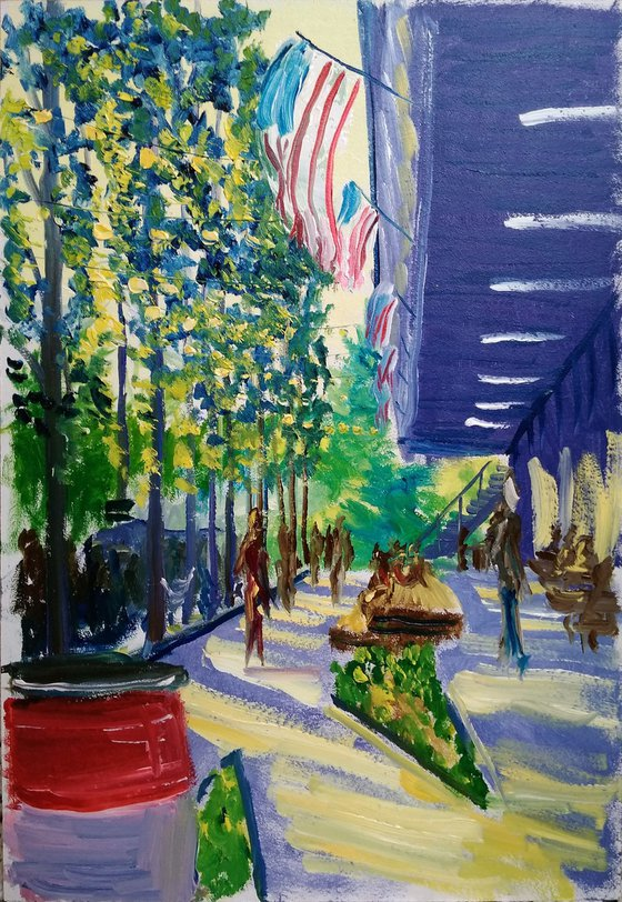 The american style festival. Pleinair painting