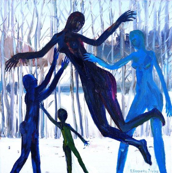 Winter fairy tale 50x50cm 20x20'