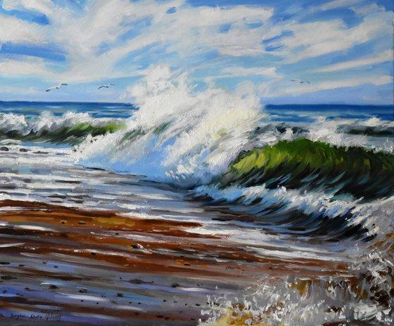 A crazy stormy sea