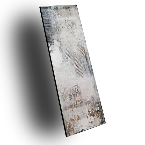 VINTAGE SURFACE - ABSTRACT ACRYLIC PAINTING TEXTURED * PASTEL COLORS * READY TO HANG