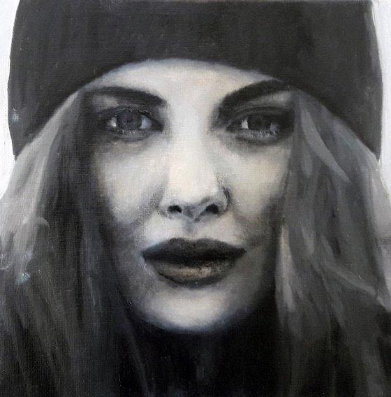 20cm x 20cm Contemporary Portrait,  Ref#191