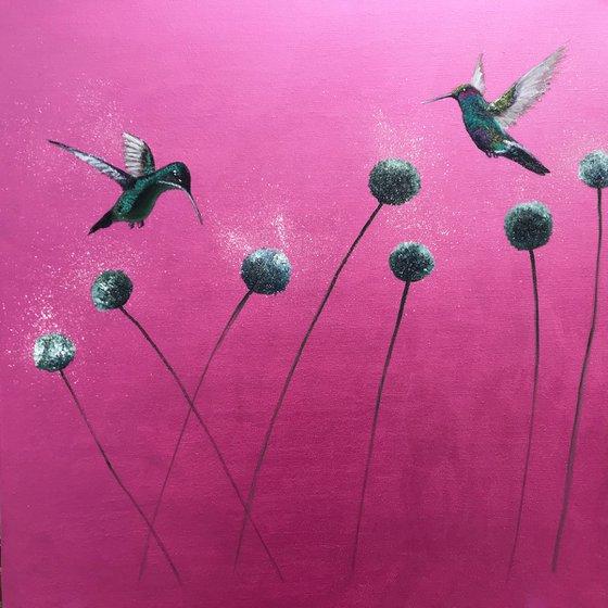 La Vie Est Belle ~ on Metallic Pink