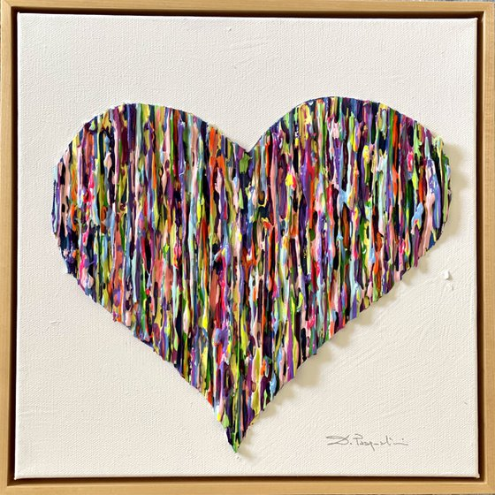 Bright Love - Colorful _ Gold Frame