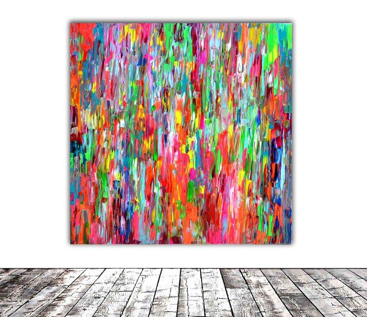 Abstract Gypsy 2 Xxl 100x100 Cm Big Painting Artfinder