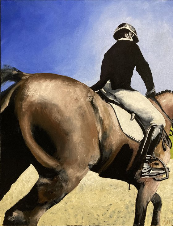 Horse and Rider Backside