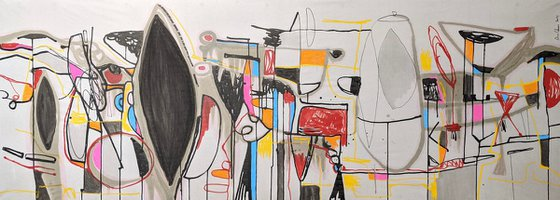 Untitled Abstract ink acrylic painting on paper