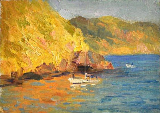 Boat in gold