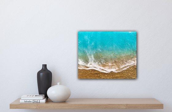 Seascape Teal Waves #49 Seascape beach Painting