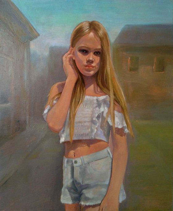 Varvara - 1 50x60cm ,oil/canvas, impressionistic figure