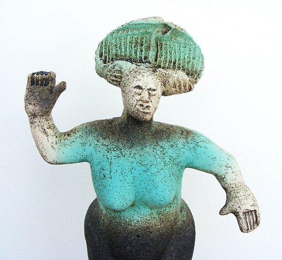 Terpsichore  -  Muse of Dance -  (Ceramic Sculpture)