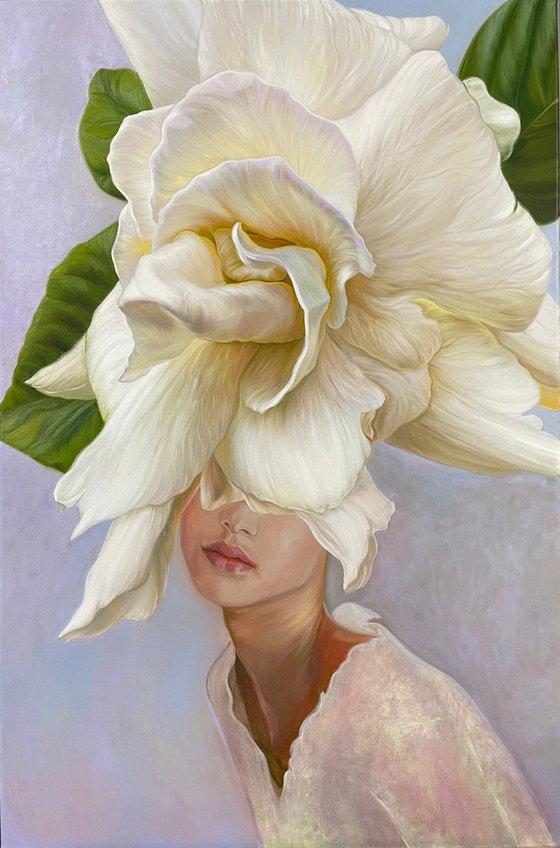 Portrait and gardenia