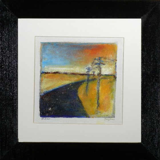 Small Framed Painting BJ08 Highway Abstract art