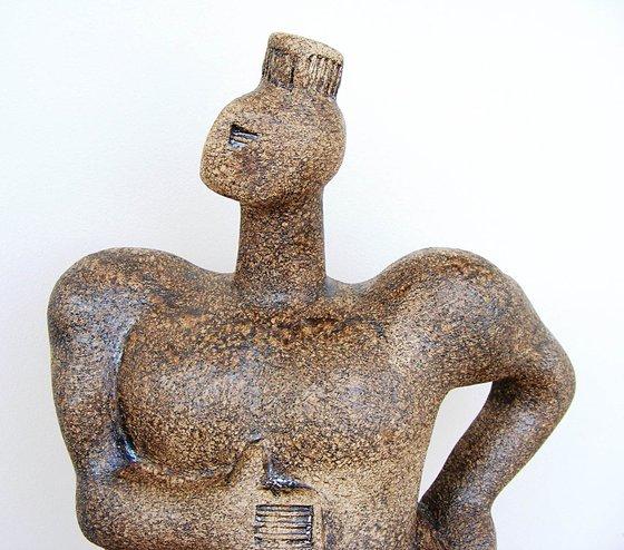 Norse Deity - Brünnhilde, a Valkyrie - Ceramic Sculpture