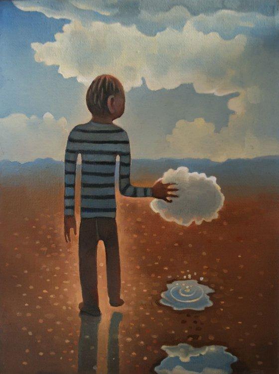 Boy conducting a cloud (study)