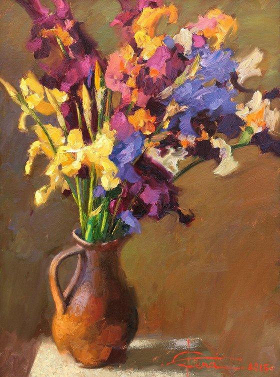 Iris pitcher
