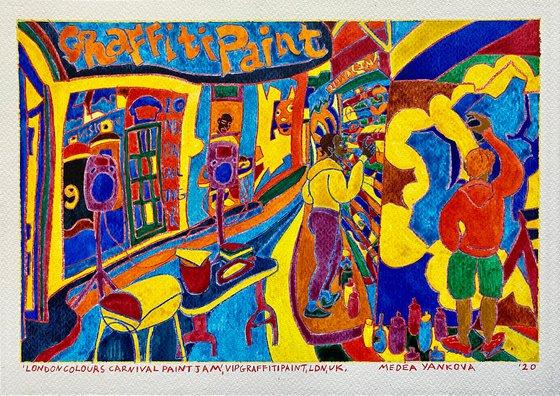 London Colours Carnival Paint Jam, VIP Graffiti Paint, LDN, UK