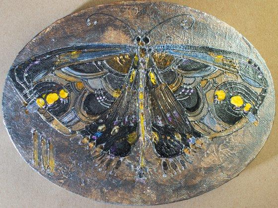 Silver Black Butterfly