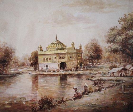 Guru Ghar – That Sails On Purity | Oil Painting By Hari Om Singh