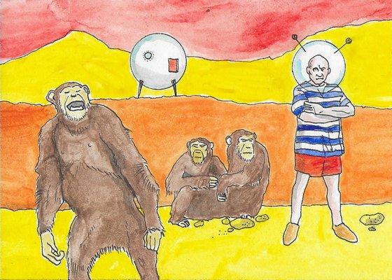 Picasso Visita El Planeta De Los Simios