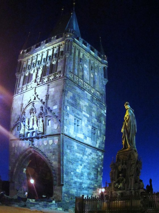 Charles IV Statue, Prague city landscape