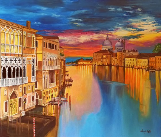 Reflections on the Grand Canal - Venice