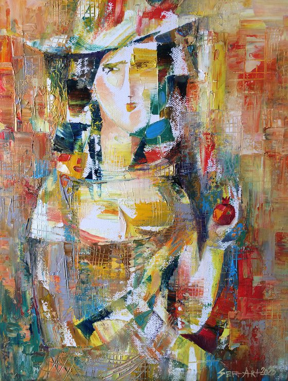 Girl with pomegranate (40x30cm oil/canvas)