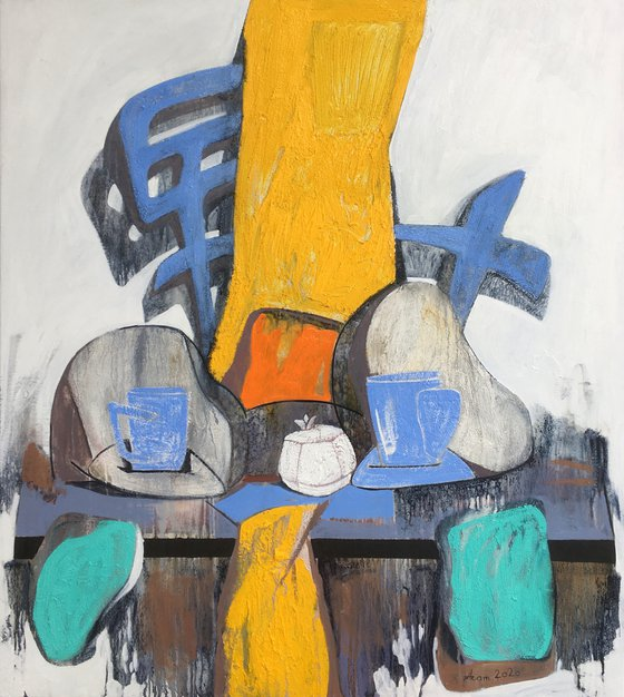 Still life   (85x95cm, oil painting, ready to hang)