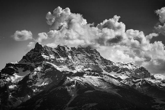 Les dents du Midi, famous peaks of the Swiss Alps