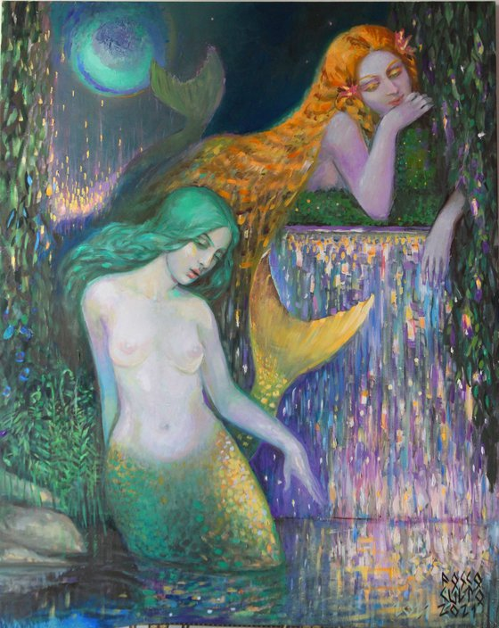 The Mermaids Under a Whirpool Moon
