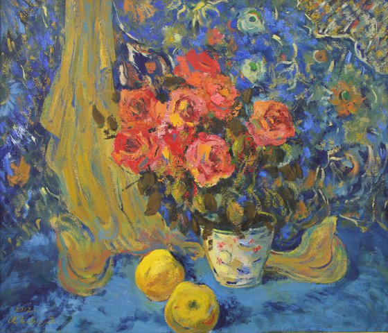Still Life in Blue - One of Kind