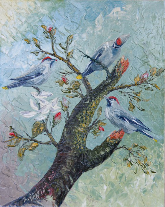 Spring(40x50cm, oil painting, impressionistic)
