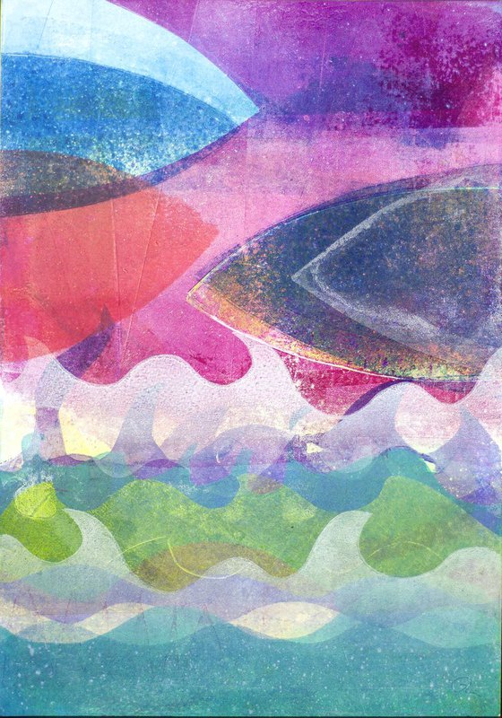 Shipping Lanes - Unframed Edge to Edge Monotype
