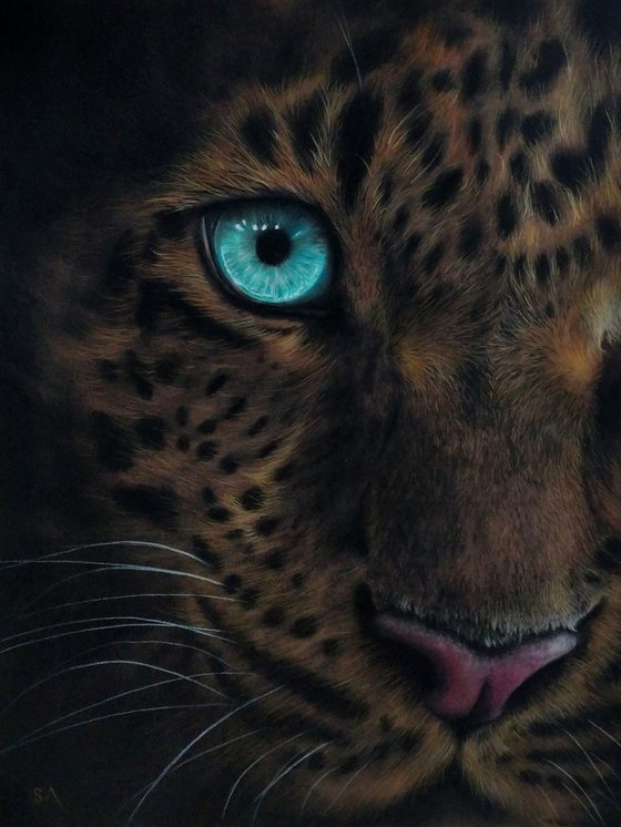 I Remember (Original Leopard Painting)