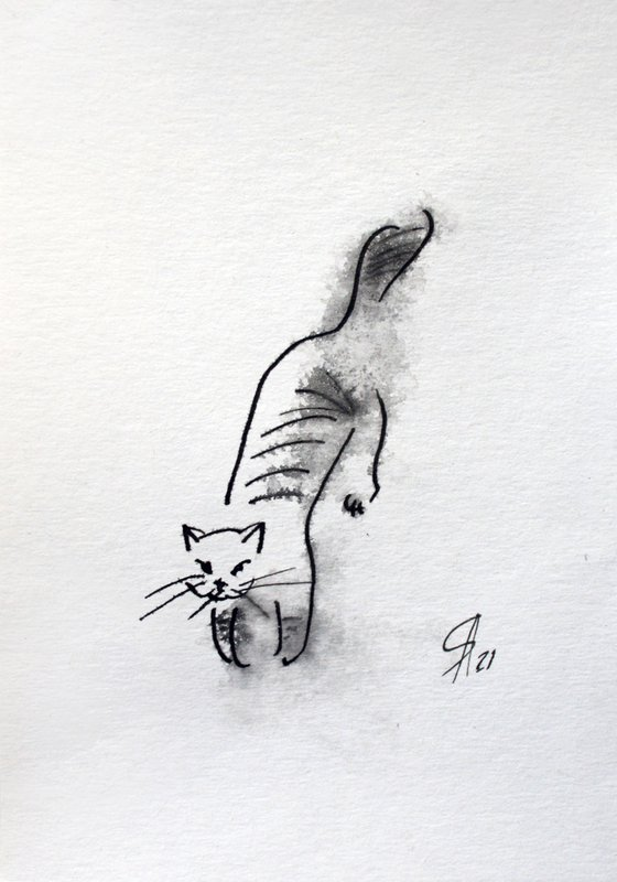 Cat V... /  ORIGINAL PAINTING