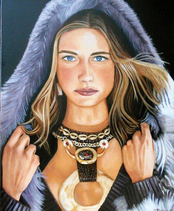 Woman in Fur & Jewelry