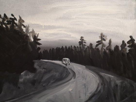 Road movie monochromatic